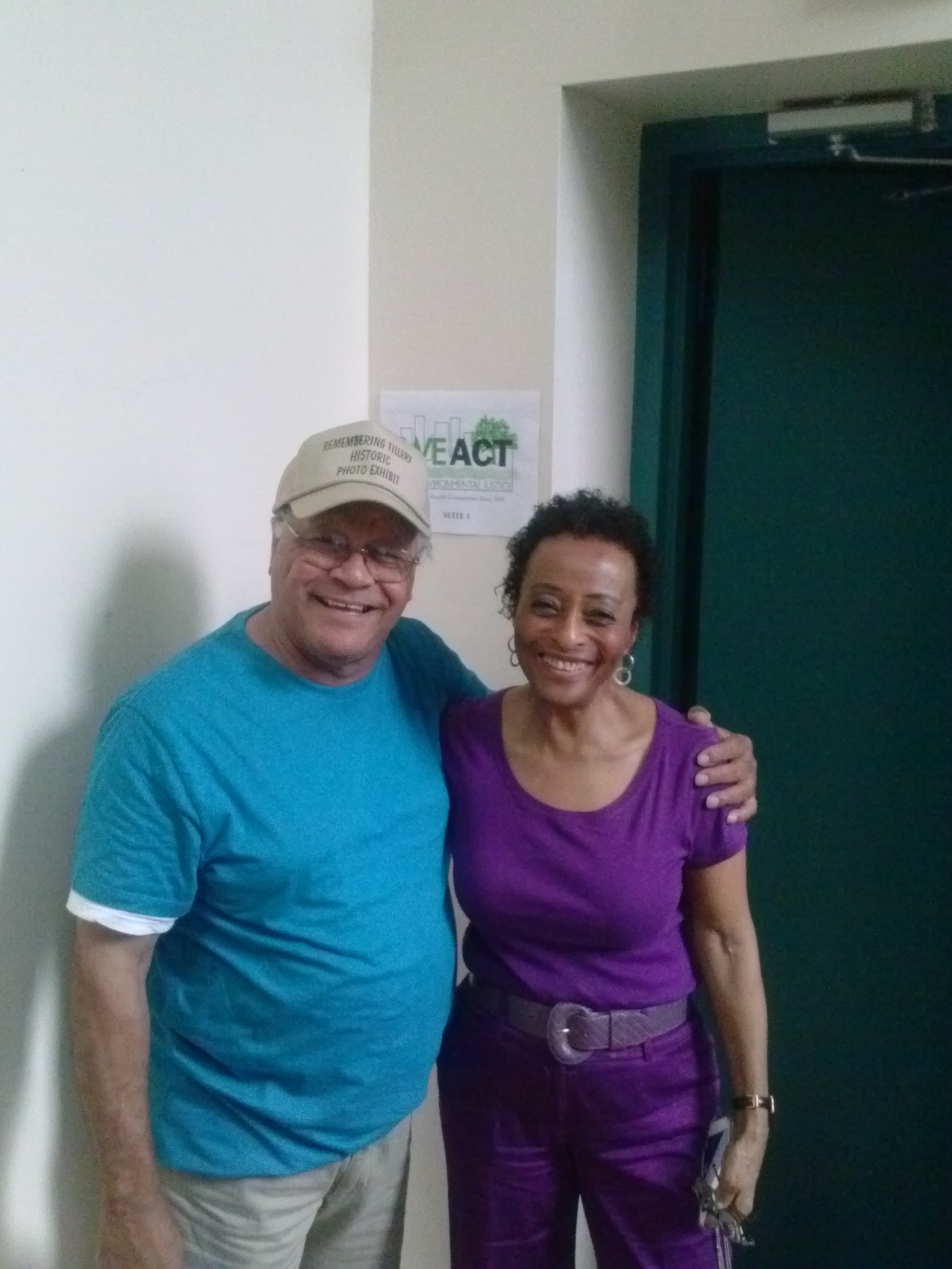 Gary Grant, NCEJN Executive Director and Peggy Shepard, WEACT for Environmental Justice Executive Director in New York City, August 2013